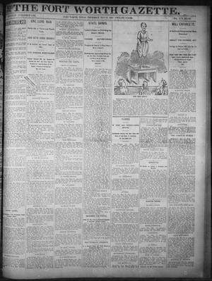Primary view of object titled 'Fort Worth Gazette. (Fort Worth, Tex.), Vol. 17, No. 183, Ed. 1, Thursday, May 18, 1893'.