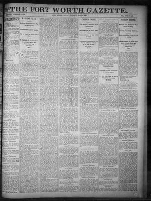 Primary view of object titled 'Fort Worth Gazette. (Fort Worth, Tex.), Vol. 17, No. 188, Ed. 1, Tuesday, May 23, 1893'.