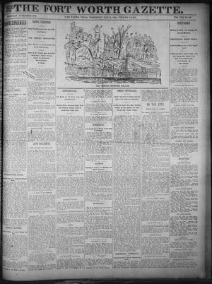 Primary view of object titled 'Fort Worth Gazette. (Fort Worth, Tex.), Vol. 17, No. 189, Ed. 1, Wednesday, May 24, 1893'.