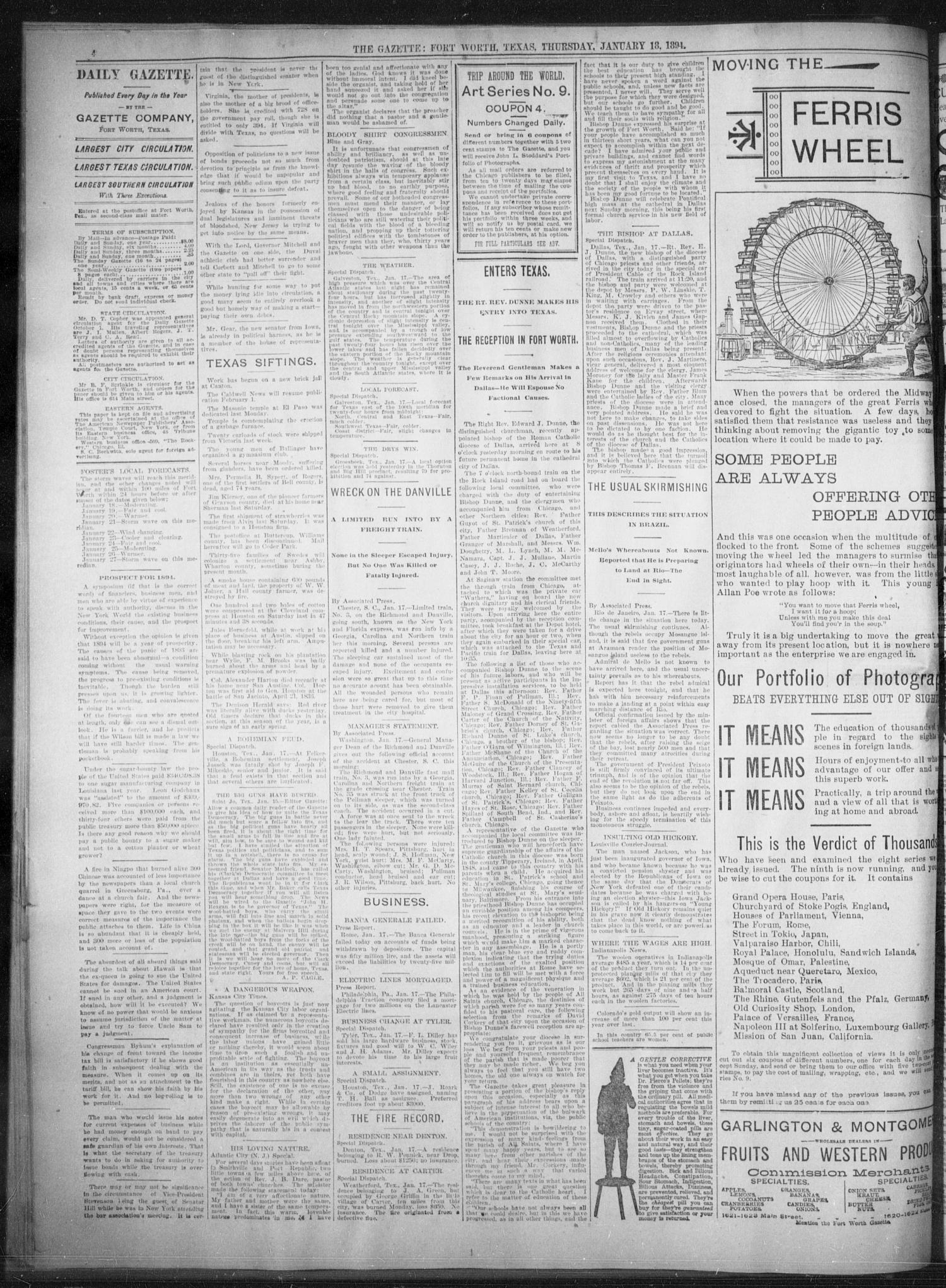 Fort Worth Daily Gazette  (Fort Worth, Tex ), Vol  18, No