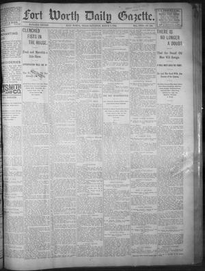 Primary view of object titled 'Fort Worth Daily Gazette. (Fort Worth, Tex.), Vol. 18, No. 100, Ed. 1, Saturday, March 3, 1894'.