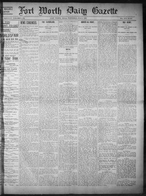 Primary view of object titled 'Fort Worth Daily Gazette. (Fort Worth, Tex.), Vol. 17, No. 231, Ed. 1, Wednesday, July 5, 1893'.