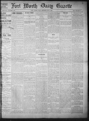 Primary view of object titled 'Fort Worth Daily Gazette. (Fort Worth, Tex.), Vol. 17, No. 232, Ed. 1, Thursday, July 6, 1893'.