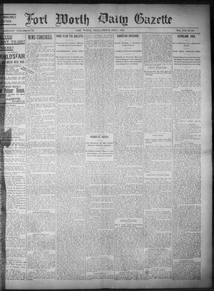 Primary view of object titled 'Fort Worth Daily Gazette. (Fort Worth, Tex.), Vol. 17, No. 233, Ed. 1, Friday, July 7, 1893'.
