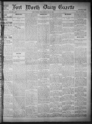 Primary view of object titled 'Fort Worth Daily Gazette. (Fort Worth, Tex.), Vol. 17, No. 236, Ed. 1, Monday, July 10, 1893'.