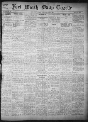Primary view of object titled 'Fort Worth Daily Gazette. (Fort Worth, Tex.), Vol. 17, No. 245, Ed. 1, Wednesday, July 19, 1893'.