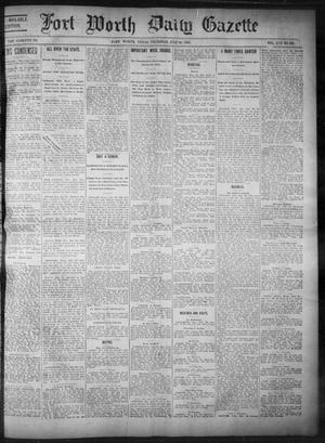 Primary view of object titled 'Fort Worth Daily Gazette. (Fort Worth, Tex.), Vol. 17, No. 246, Ed. 1, Thursday, July 20, 1893'.