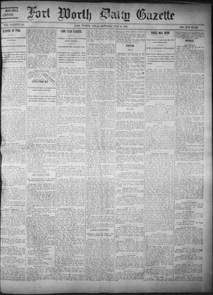 Primary view of object titled 'Fort Worth Daily Gazette. (Fort Worth, Tex.), Vol. 17, No. 248, Ed. 1, Saturday, July 22, 1893'.
