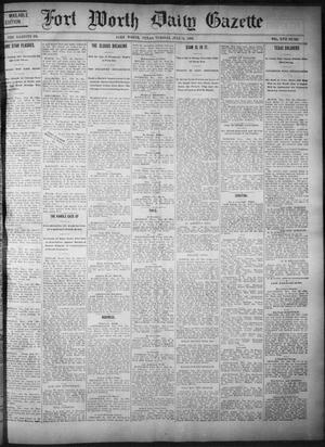 Primary view of object titled 'Fort Worth Daily Gazette. (Fort Worth, Tex.), Vol. 17, No. 251, Ed. 1, Tuesday, July 25, 1893'.