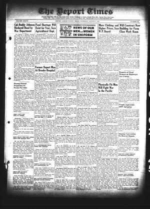Primary view of object titled 'The Deport Times (Deport, Tex.), Vol. 37, No. 26, Ed. 1 Thursday, August 2, 1945'.