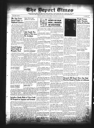 Primary view of The Deport Times (Deport, Tex.), Vol. 36, No. 22, Ed. 1 Thursday, July 6, 1944