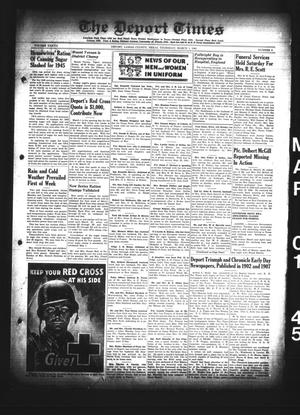 Primary view of object titled 'The Deport Times (Deport, Tex.), Vol. 37, No. 4, Ed. 1 Thursday, March 1, 1945'.