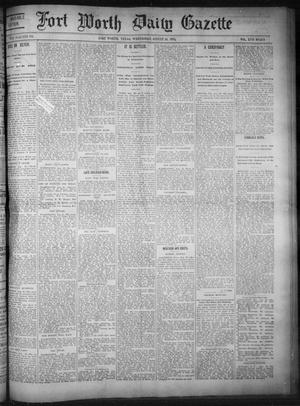 Primary view of object titled 'Fort Worth Daily Gazette. (Fort Worth, Tex.), Vol. 17, No. 273, Ed. 1, Wednesday, August 16, 1893'.