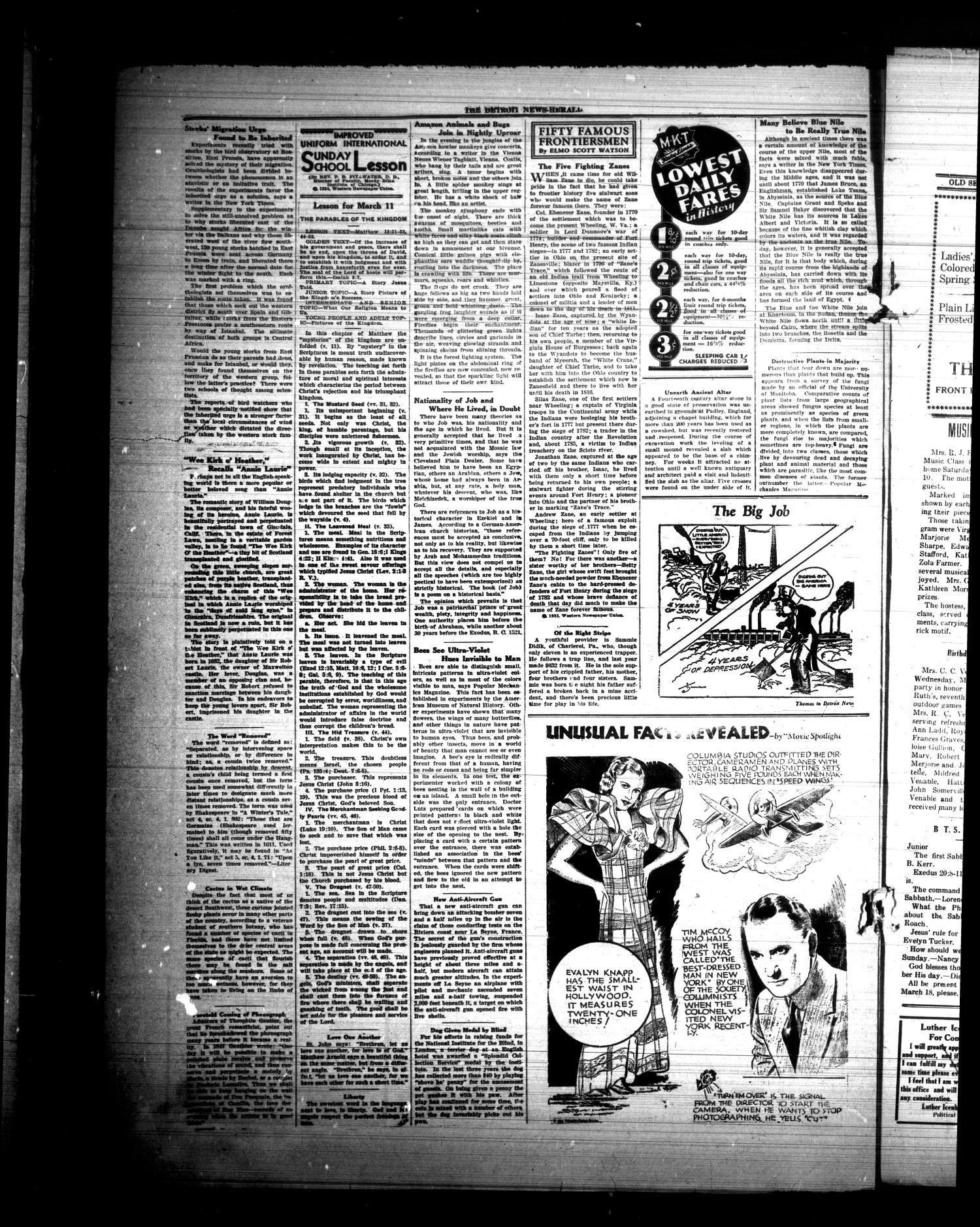 The Detroit News-Herald (Detroit, Tex.), Vol. 6, No. [49], Ed. 1 Thursday, March 8, 1934                                                                                                      [Sequence #]: 4 of 4
