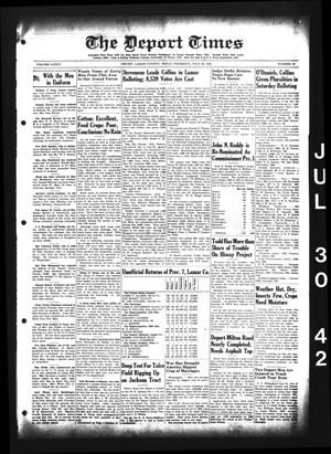 Primary view of object titled 'The Deport Times (Deport, Tex.), Vol. 34, No. 25, Ed. 1 Thursday, July 30, 1942'.