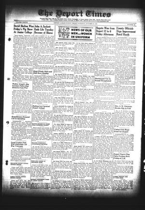 Primary view of object titled 'The Deport Times (Deport, Tex.), Vol. 37, No. 38, Ed. 1 Thursday, October 25, 1945'.