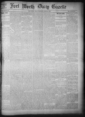Primary view of object titled 'Fort Worth Daily Gazette. (Fort Worth, Tex.), Vol. 17, No. 280, Ed. 1, Wednesday, August 23, 1893'.