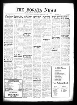 Primary view of The Bogata News (Bogata, Tex.), Vol. 58, No. 5, Ed. 1 Thursday, November 9, 1967