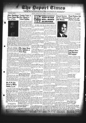 Primary view of object titled 'The Deport Times (Deport, Tex.), Vol. 37, No. 24, Ed. 1 Thursday, July 19, 1945'.