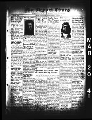 Primary view of object titled 'The Deport Times (Deport, Tex.), Vol. 33, No. 7, Ed. 1 Thursday, March 20, 1941'.