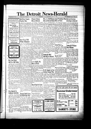 Primary view of object titled 'The Detroit News-Herald (Detroit, Tex.), Vol. 14, No. 16, Ed. 1 Thursday, July 17, 1941'.