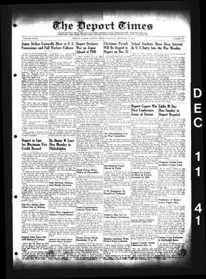 Primary view of object titled 'The Deport Times (Deport, Tex.), Vol. 33, No. 45, Ed. 1 Thursday, December 11, 1941'.