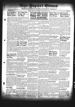 Primary view of object titled 'The Deport Times (Deport, Tex.), Vol. 37, No. 34, Ed. 1 Thursday, September 27, 1945'.