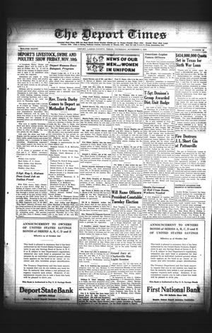 Primary view of object titled 'The Deport Times (Deport, Tex.), Vol. 36, No. 39, Ed. 1 Thursday, November 2, 1944'.