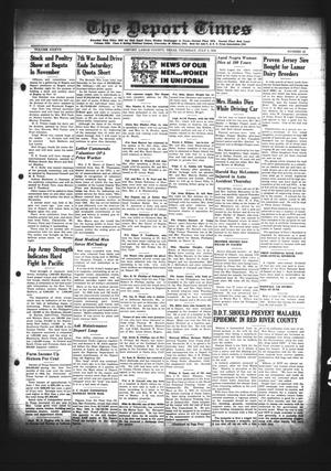 Primary view of object titled 'The Deport Times (Deport, Tex.), Vol. 37, No. 22, Ed. 1 Thursday, July 5, 1945'.