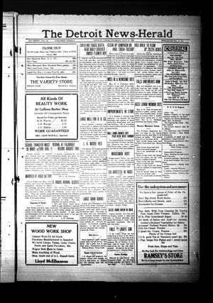 Primary view of object titled 'The Detroit News-Herald (Detroit, Tex.), Vol. 6, No. [17], Ed. 1 Thursday, July 27, 1933'.