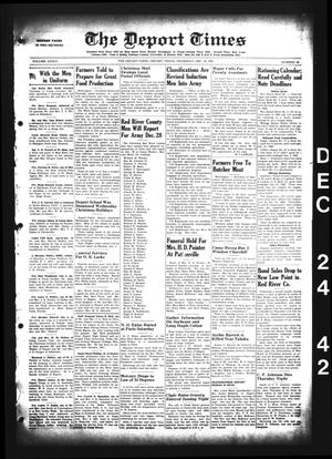 Primary view of object titled 'The Deport Times (Deport, Tex.), Vol. 34, No. 46, Ed. 1 Thursday, December 24, 1942'.