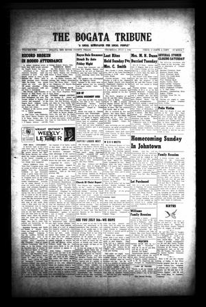 Primary view of object titled 'The Bogata Tribune (Bogata, Tex.), Vol. 2, No. 7, Ed. 1 Thursday, July 2, 1959'.