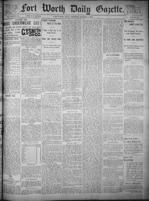 Primary view of object titled 'Fort Worth Daily Gazette. (Fort Worth, Tex.), Vol. 17, No. 332, Ed. 1, Saturday, October 21, 1893'.