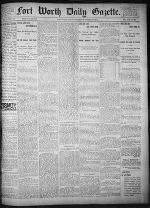 Primary view of object titled 'Fort Worth Daily Gazette. (Fort Worth, Tex.), Vol. 17, No. 336, Ed. 1, Wednesday, October 25, 1893'.