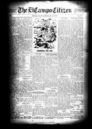 Primary view of object titled 'The El Campo Citizen (El Campo, Tex.), Vol. 19, No. 11, Ed. 1 Friday, May 9, 1919'.