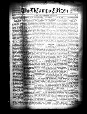 Primary view of object titled 'The El Campo Citizen (El Campo, Tex.), Vol. 19, No. 24, Ed. 1 Friday, August 8, 1919'.