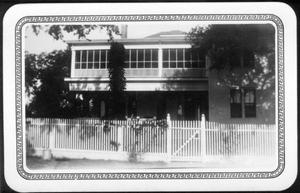 Primary view of object titled '[Gate in front of the George Ranch house]'.