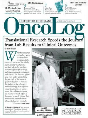 Primary view of OncoLog, Volume 49, Number 3, March 2004