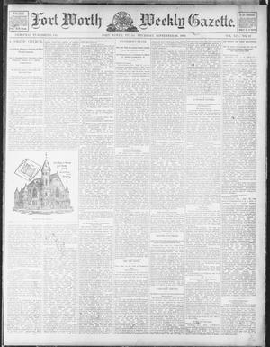 Fort Worth Weekly Gazette. (Fort Worth, Tex.), Vol. 19, No. 42, Ed. 1, Thursday, September 26, 1889