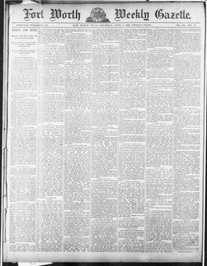 Primary view of object titled 'Fort Worth Weekly Gazette. (Fort Worth, Tex.), Vol. 12, No. 17, Ed. 1, Thursday, April 3, 1890'.