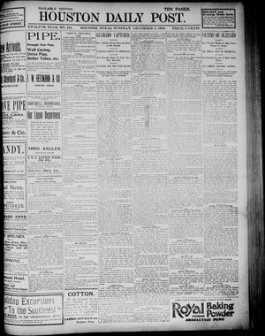 Primary view of object titled 'The Houston Daily Post (Houston, Tex.), Vol. TWELFTH YEAR, No. 241, Ed. 1, Tuesday, December 1, 1896'.