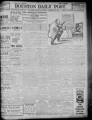 Primary view of object titled 'The Houston Daily Post (Houston, Tex.), Vol. TWELFTH YEAR, No. 245, Ed. 1, Saturday, December 5, 1896'.