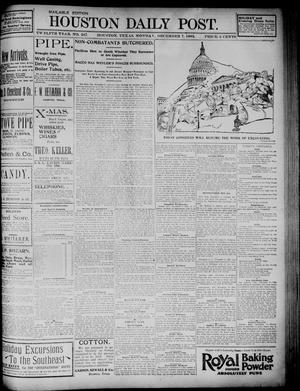 Primary view of object titled 'The Houston Daily Post (Houston, Tex.), Vol. TWELFTH YEAR, No. 247, Ed. 1, Monday, December 7, 1896'.