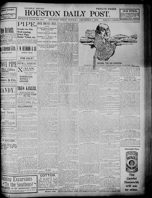 Primary view of object titled 'The Houston Daily Post (Houston, Tex.), Vol. TWELFTH YEAR, No. 248, Ed. 1, Tuesday, December 8, 1896'.