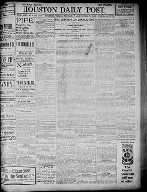 Primary view of object titled 'The Houston Daily Post (Houston, Tex.), Vol. TWELFTH YEAR, No. 250, Ed. 1, Thursday, December 10, 1896'.
