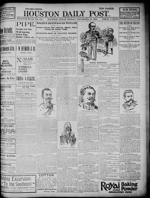 Primary view of object titled 'The Houston Daily Post (Houston, Tex.), Vol. TWELFTH YEAR, No. 258, Ed. 1, Friday, December 18, 1896'.