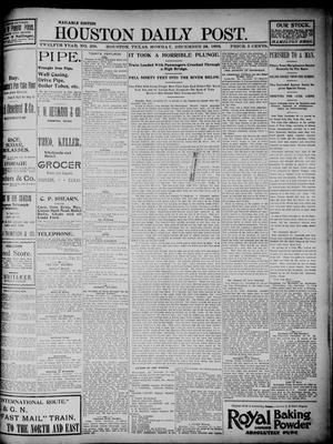 Primary view of object titled 'The Houston Daily Post (Houston, Tex.), Vol. TWELFTH YEAR, No. 268, Ed. 1, Monday, December 28, 1896'.