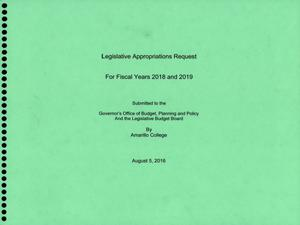 Primary view of object titled 'Amarillo College Requests for Legislative Appropriations: 2018 and 2019'.