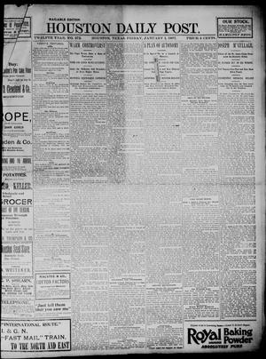 Primary view of object titled 'The Houston Daily Post (Houston, Tex.), Vol. TWELFTH YEAR, No. 272, Ed. 1, Friday, January 1, 1897'.