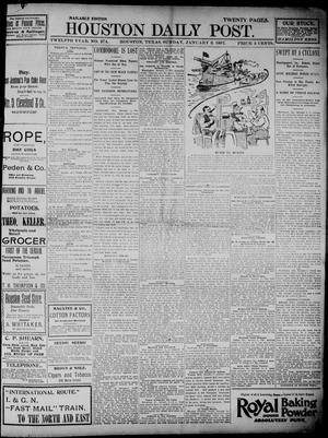 Primary view of object titled 'The Houston Daily Post (Houston, Tex.), Vol. TWELFTH YEAR, No. 274, Ed. 1, Sunday, January 3, 1897'.